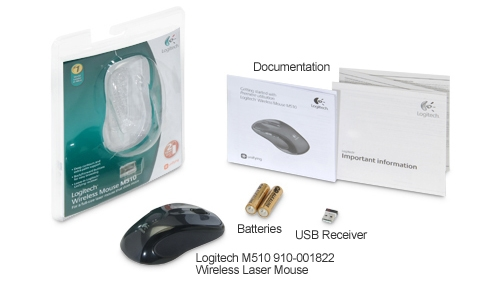 b8a336af107 Logitech M510 Black RF Wireless Mouse: 910-001822 at BEST PRICE