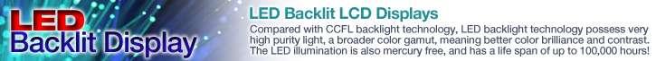 LED Backlit LCD Display