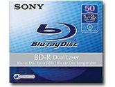 SONY  1X - 2X SPEED 50GB BARE D BLU-RAY DISC RECORDABLE (: BNR50AH)