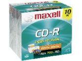 MAXELL CANADA MAXELL CANADA  10PK CDR 700MB 80MIN PRINTABLE (Maxell: 648722C)