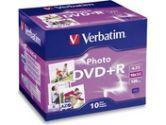 Verbatim Photo DVD+R 4.7GB 16X 10-Pack Jewel Case (Verbatim: 95523)