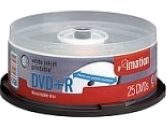 IMATION DVD+R 4.7GB 8X WHITE INKJET 4X25PK (IMATION: 17563-4X25PK)