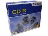 Verbatim CD-R 80MIN 700MB 52X Branded 10-Pack Slim Case (VERBATIM: 94935-8X10PK)