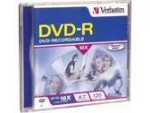 Verbatim DVD-R 4.7GB 16X Branded 1- Pack Jewel Case (VERBATIM: 95051)