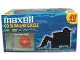 MAXELL CANADA MAXELL CANADA  MAXELL CD-365 JEWEL CASE SLIM CLEAR (Maxell: 190074)