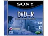 SONY  DVD+R 4.7GB 16X RECORDBLE DISK JEWELCASE (Sony: DPR47L4)