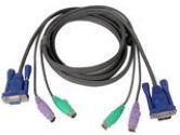 IOGEAR 6 ft. All-In-One Micro-Lite Bonded KVM Cable (IOGEAR: G2L5002P)