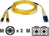 Tripp Lite 2-meter Duplex Singlemode Fiber Patch Cable LC/ST (Tripp Lite: N368-02M)