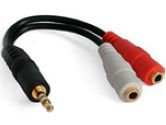 StarTech.com 6IN PC SPKR Y SPLITTER CABLE 3.5MM M/2XF (StarTech.com: MUY1MFF)