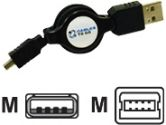 Cables Unlimited CTG Retractable USB 2.0 A/4-PIN MINI B Cable (CABLES TO GO: 28288)