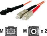 StarTech.com 3m 50/125 Multimode SC-MT-RJ Fiber Cable (StarTech.com: 50FIBSCMT3)