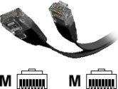 StarTech FLAT45BK10 10 ft. Network Cable (STARTECH.COM: FLAT45BK10)