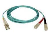 Tripp Lite 10 meter Duplex Multimode 50/125 Aqua Fiber Patch Cable SC/LC (Tripp Lite: N816-10M)