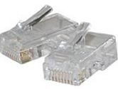 Cables Unlimited Cables To Go Cables To Go  100PK MOD PLUG RJ45 8P8C FOR FLAT SILVER SATIN CBL (CABLES TO GO: 01949)