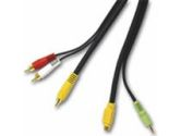 Cables To Go Cables To Go  50FT CBL A/V S-VID/3.5MM TO 3-RCA (Cables to Go: 27994)