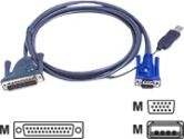 ATEN PS/2 to USB Intelligent KVM Cable 6' (ATEN: 2L5602UP)