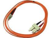 Transition Networks 2 m/7 ft Multimode Fiber Patch Cord SC to SC (50/125µm Duplex) Orange (Transition Networks: FPC-MD5-SCSC-02M)