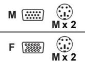 Belkin Pro Series OmniView KVM PS/2 Cable Kit - 6 feet 4-Pack (Belkin Components: A3X982-06-4)