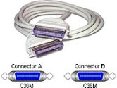 CABLES UNLIMITED CABLES UNLIMITED  Printer cable - 36 pin Centronics - Male - 36 pin Centronics - Male - 25 feet - (CABLES TO GO: 02686)