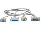StarTech.com STARTECH STARTECH  Serial Laplink Cable - DB-9 DB-25 (F) - DB-9 DB-25 (F) - 6 ft (STARTECH.COM: SCNM6LINK)