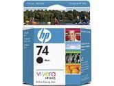 HP HP 74 Black Inkjet Print Cartridge (Hewlett-Packard: CB335WC#140)