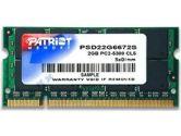 Patriot Memory Patriot 2048MB PC5400 DDR2 667MHz SODIMM Memory (Patriot Memory: PSD22G6672S)