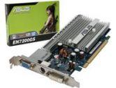 ASUS EN7200GS/HTD/128M GEFORCE 7200GS, 128MB DDR2, 64 BIT, TV-OUT, DVI, PCI-E New (ASUS: EN7200GS/HTD/128M)