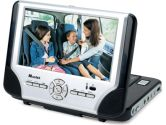 "Mustek PD77B Dual 7"" Widescreen Portable DVD Player W/ IR Remote Control SILVER/BLACK (PD77B) (: PD77B)"
