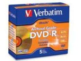 Verbatim 4.7GB 8X DVD-R 5 Packs Disc Model 96320 (Verbatim: 96320)