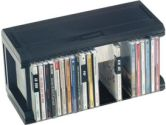 Allsop Stackable CD Organizer - Black (CABLES TO GO: 52010)
