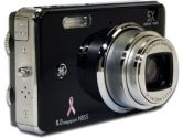 "GE Susan G Komen H855 Digital Camera - 8.0 Megapixels, 5x Optical Zoom, 4.5x Digital Zoom, 3.0"" LCD, Black (GE: H855BK)"