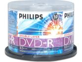 PHILIPS DM8S8B50F/17 50-Pack 8X DVD-R DL, Double Layer (Philips Consumer Electronics: DM8S8B50F/17)