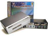 Linkskey LDV-002EASK KVM Switch - 2-Port, DVI, Audio, with Cables (Linkskey: LDV-002EASK)