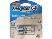 Energizer Lithium AAA Photo Batteries, 2 Pack (Energizer Holdings, Inc: L92BP-2)