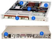 Supermicro CSE-811T-300B 300W 1U Rackmount Server Chassis (SUPER MICRO Computer: CSE-811T-300B)
