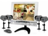 Lorex Professional 15 LCD Color Observation System with Built-in 4 Channel Triplex Digital Video Recorder and 4 Night Vision CCD Cameras (Lorex: L15LD404-161)