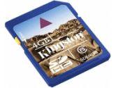 Kingston 4GB SDHC Class 4 Flash Card (Kingston Technology: SD4/4GBKR)