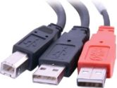 CTG 28108 6ft USB 2.0 Male to 2 USB A Male Y-Cable (Cables to Go: 28108)