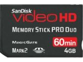 SanDisk Video HD 4GB Memory Stick Pro Duo (SanDisk: SDMSPDHV-004G-A15)