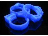 Primochill Reusable UV Blue Hose Clamps for 3/4 Inch Outer Diameter Tubing (Primochill: C-34-UB)