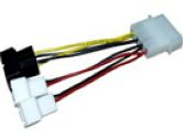 Zalman ZM-MC1 4-Pin Molex to 3-Pin 12V/5V Power Adapter Cable For Fan - OEM (ZALMAN: ZM-MC1)