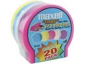 Maxell CD Disc Case Shells, Coloured 20-pack (Maxell: 190073)