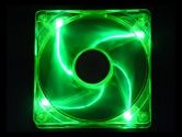 APEVIA CF12SL-UGN Green LED Case Fan (APEVIA: CF12SL-UGN)