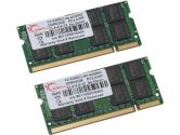 G.SKILL 4GB (2 x 2GB) 200-Pin DDR2 SO-DIMM DDR2 667 (PC2 5300) Dual Channel Kit Laptop Memory (G.SKILL: F2-5300CL4D-4GBSQ)