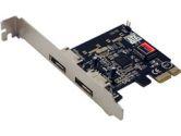 Syba SD-SA2PEX-2E SATA II Controller Card 2X eSATA Ports SIL3132 Chipset PCI-E (Syba: SD-SA2PEX-2E)