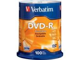 Verbatim DVD-R 4.7GB 16X Discs, 100-Pack Spindle (Verbatim: 95102)