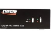 StarTech SV231DDUSB 2 Port StarView DVI/VGA USB KVM Switch with Audio (StarTech.com: SV231DDUSB)