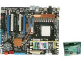 ASUS M4A79 Deluxe 790FX SB750 Socket AM3 DDR2 4PCI-E16 2PCI SATA RAID Sound GBLAN 1394 Motheboard (ASUS: M4A79 DELUXE <GREEN>)