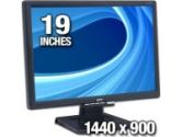 Acer AL1916WAB 19 Widescreen LCD Monitor - 5ms, 700:1, WXGA+, 1440x900, VGA, Black, Refurbished (Acer: ET.L800C.137)