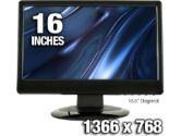 AOC 1619Sw1 16 Widescreen LCD Monitor - 8ms, 1366x768, 60Hz, 500:1 Native, VGA, Black (AOC: 1619Sw1)